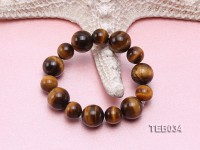12-16mm Tiger Eye Beads Elasticated Bracelet