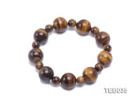 8.5-14.5mm Tiger Eye Beads Elasticated Bracelet