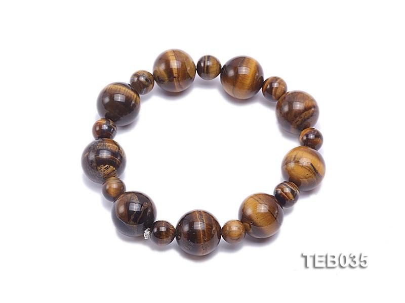 8.5-14.5mm Tiger Eye Beads Elasticated Bracelet