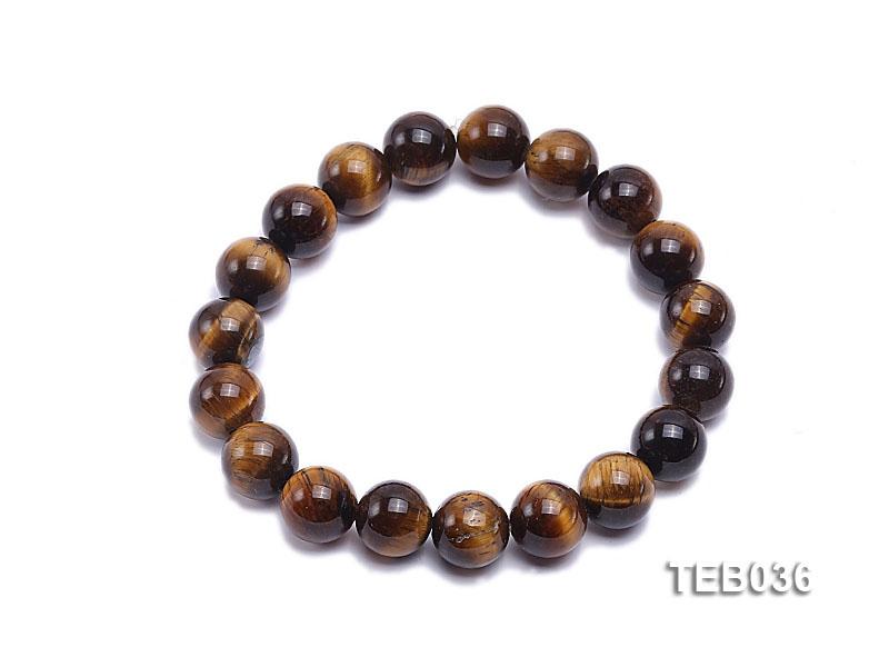 10mm Tiger Eye Beads Elasticated Bracelet