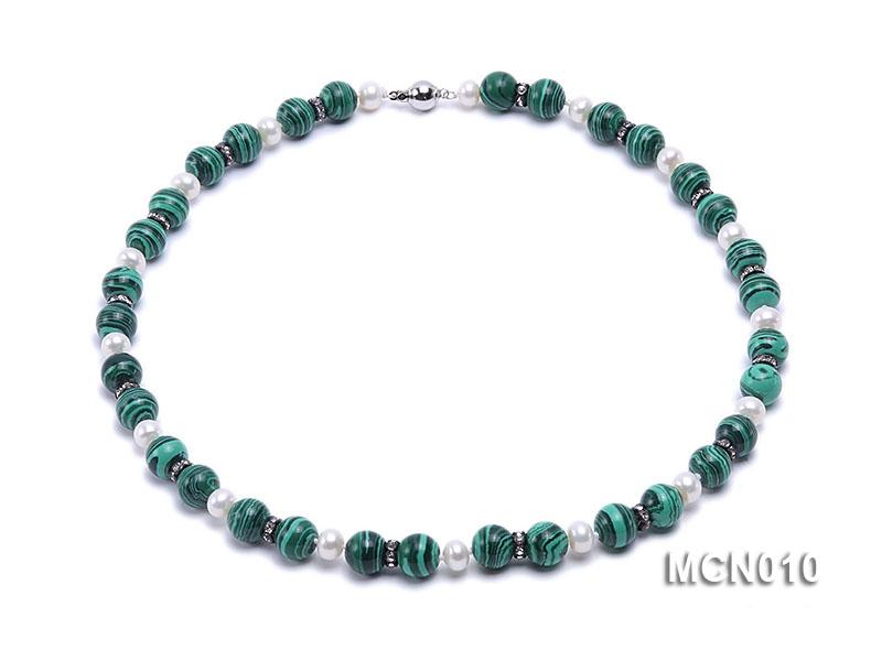 10mm Malachite Beads Necklace
