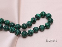 10mm Round Malachite Beads Necklace