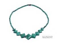 4mm Round Malachite Beads Necklace