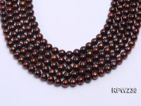 Wholesale 10-11mm Brown Round Freshwater Pearl String