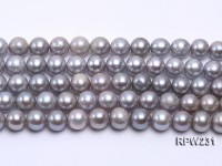 Wholesale 10mm Silver Round Freshwater Pearl String