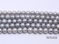 Wholesale 11-12mm Silver Round Freshwater Pearl String