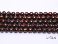 Wholesale 8mm Brown Round Freshwater Pearl String
