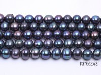 Wholesale 10-11mm Black Round Freshwater Pearl String