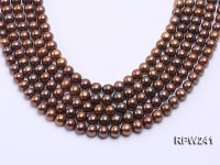 Wholesale 9-10mm Brown Round Freshwater Pearl String