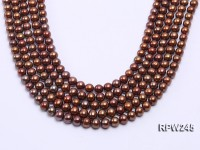 Wholesale 7-8mm Brown Round Freshwater Pearl String