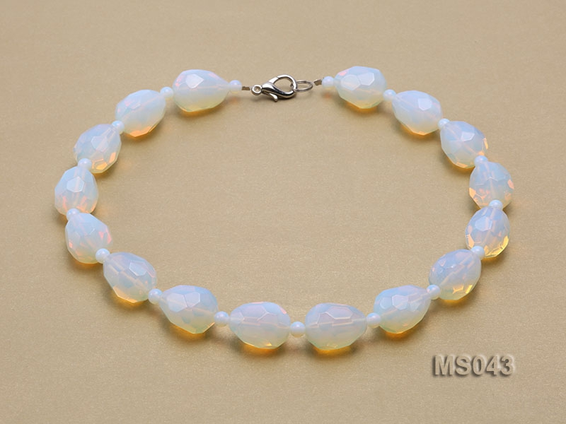 18x25mm Moonstone Beads Necklace