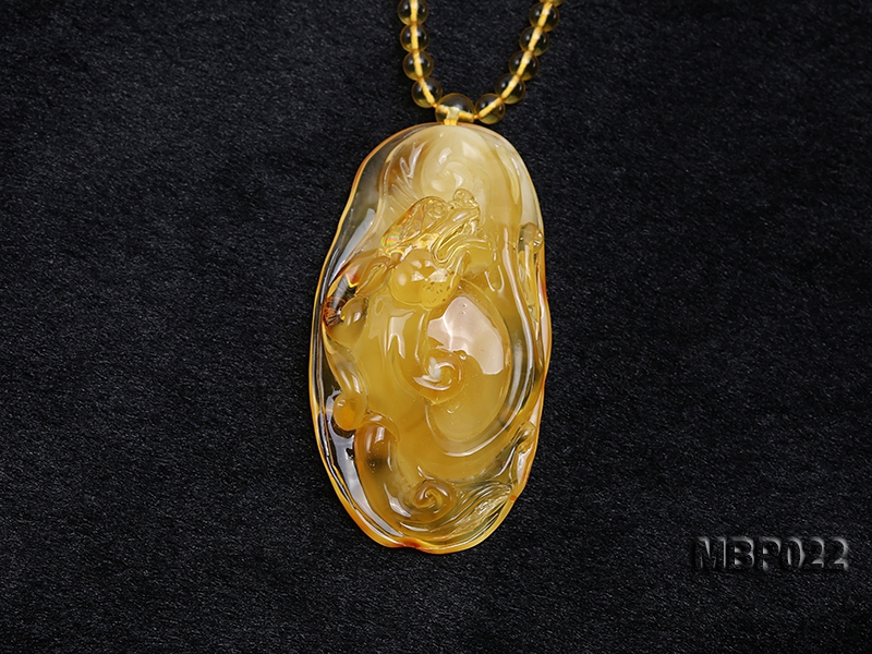 40X80mm Amber Pendant