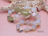 11.5×11.5mm Moonstone Beads Necklace