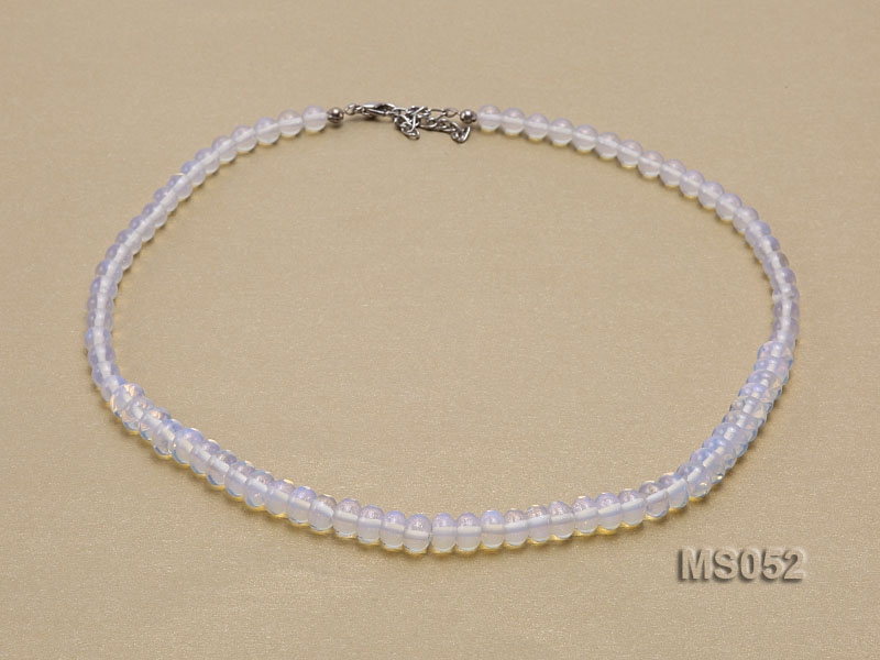 6-5x8mm Moonstone Beads Necklace