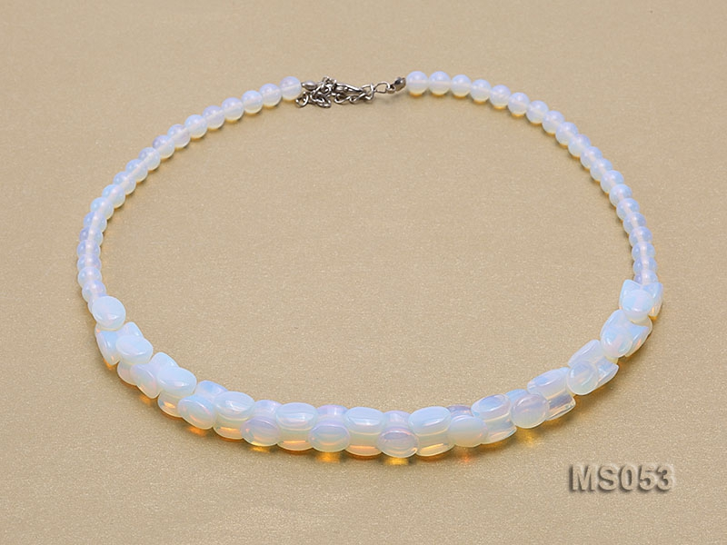 6-10x11mm Moonstone Beads Necklace