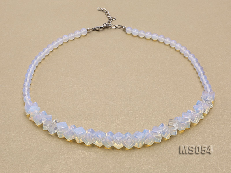 6-8-10.5mm Moonstone Necklace