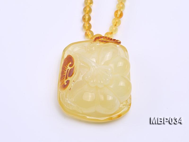 43X50mm Amber Pendant