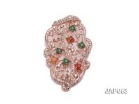 44x25mm Natural Jadeite Pendant
