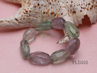 15x25mm Oval Faceted Fluorite Elasticated Bracelet