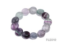 8x13mm Fluorite Stretchy Bracelet