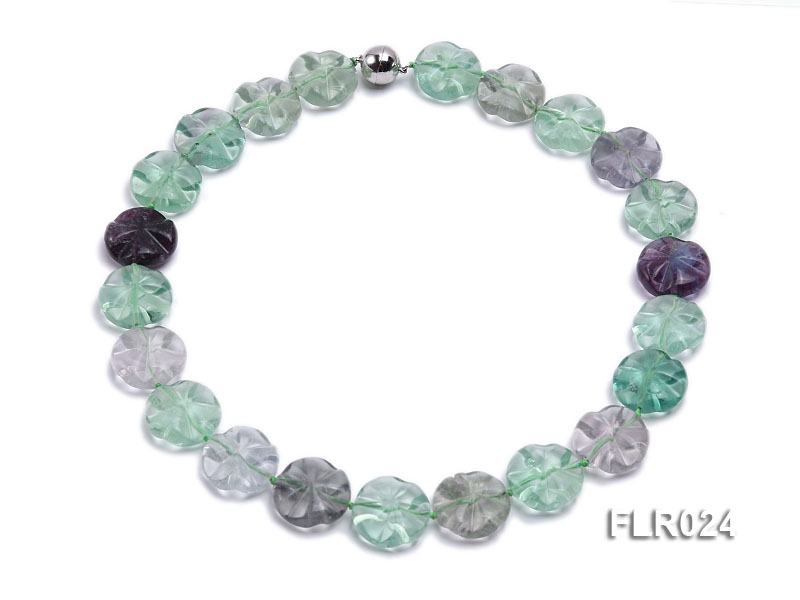 9x20mm Fluorite Beads Necklace
