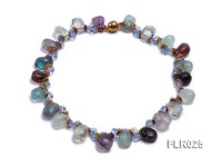 16x19mm Side-drilled Fluorite Beads Necklace