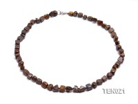 7x9mm Irregular Tiger Eye Necklace
