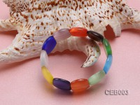 7x21mm Colorful Cat's Eye Beads Bracelet