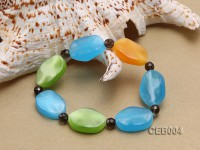 7.5x25mm Colorful Cat's Eye Beads Bracelet