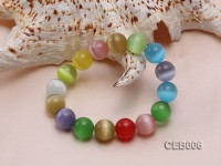 12mm Colorful Cat's Eye Beads Bracelet