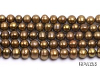 Wholesale 8.5-9.5mm Brown Round Freshwater Pearl String