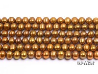 Wholesale 8.5-9mm Golden Round Freshwater Pearl String