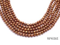 Wholesale 8-9mm Reddish Brown Near Round Freshwater Pearl String