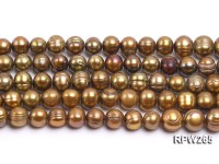 Wholesale 7.5-8.5mm Brown Round Freshwater Pearl String