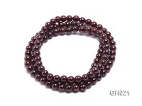 Natural 6.5mm Round Garnet Long Bracelet