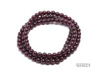 Natural 6.5mm Round Garnet Long Bracelet