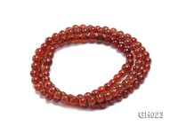 Natural 5.5mm Round Garnet Long Bracelet