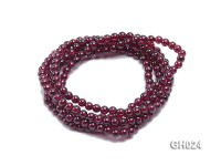 Natural 4.5mm Round Garnet Long Bracelet