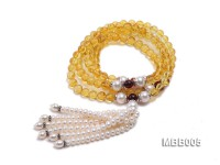 6.5mm Natural Yellow Round Amber Bracelet