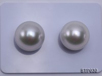South Sea Pearl—AAAA-grade 15-15.5mm Classic White Round South Sea Pearl