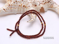 4mm Natural Red Round Amber Bracelet