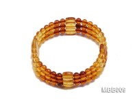 Three-strand 5mm Natural Round Amber Bracelet
