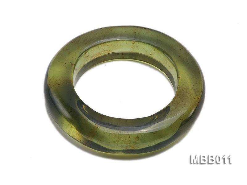 20mm Natural Green Amber Bangle
