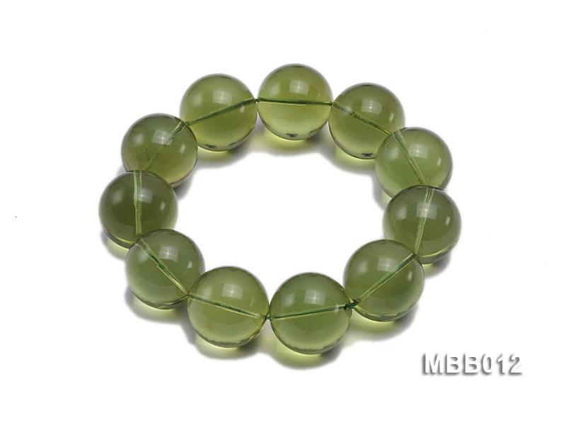 20mm Natural Green Amber Bracelet
