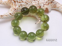 20mm Natural Green Amber Bracelet