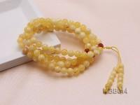 7.5mm Natural Round Amber Bracelet