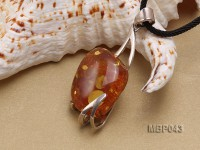 53x28mm Natural Amber Pendant