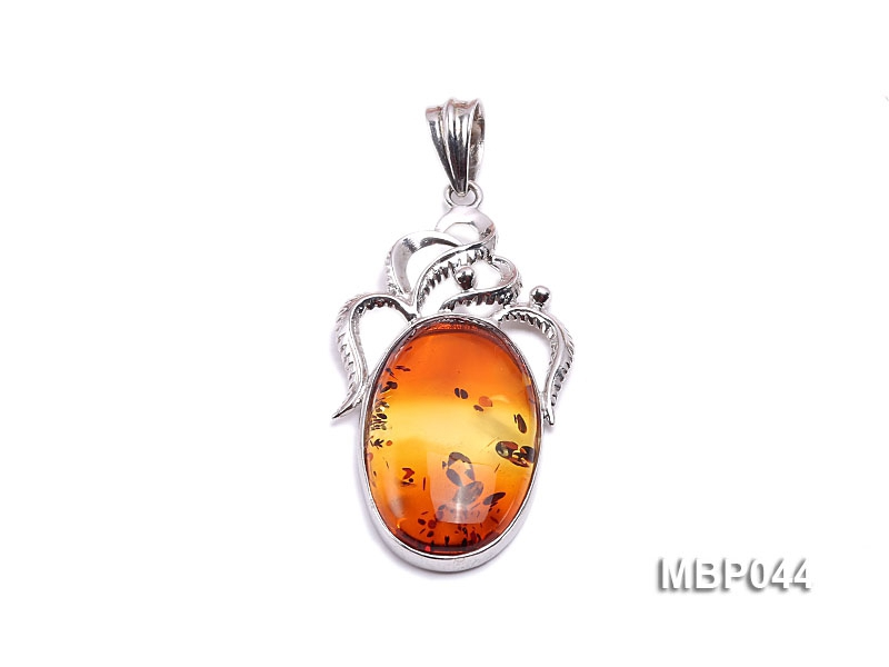 55x28mm Natural Amber Pendant