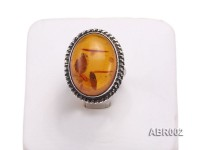 6.5mm Natural Amber Ring