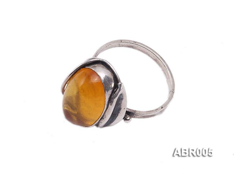 8.5mm Natural Amber Ring